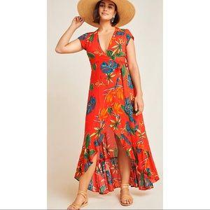 Anthropologie XIX Palms Santiago Wrap Maxi Dress